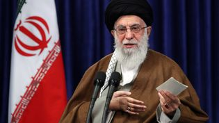 L'ayatollahAli Khamenei, le guide suprême iranien, donne une conférence de presse à Téhéran, le 10 mai 2020. (AFP PHOTO / HO / KHAMENEI.IR)