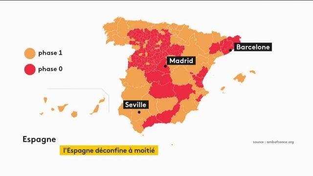L'Espagne à moitié déconfinée
