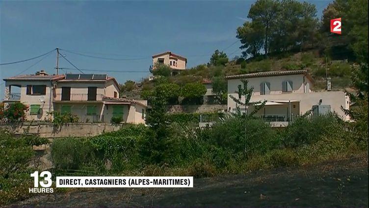 Castagniers : les pompiers restent inquiets (FRANCE 2)