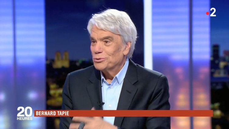 Bernard Tapie, le 29 novembre 2018, sur le plateau de France 2. (FRANCE 2)