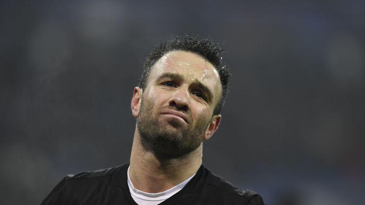 L'attaquant lyonnais Mathieu Valbuena lors du match Lyon-Séville, au Parc OL, le 7 décembre 2016. (PHILIPPE DESMAZES / AFP)