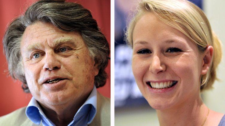 Gilbert Collard et Marion Maréchal-Le Pen seront les deux membres du FN à entrer à l'Assemblée nationale. (SYLVAIN THOMAS / BORIS HORVAT / AFP)