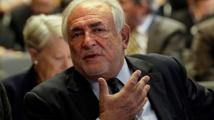 Dominique Strauss-Kahn à une réunion au siège du FMI à Washington, le 19 avril 2017. (YURI GRIPAS / REUTERS)