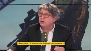 Eric Coquerel, député France insoumise de Seine-Saint-Denis, invité de franceinfo samedi 24 mars. (RADIO FRANCE / FRANCE INFO)
