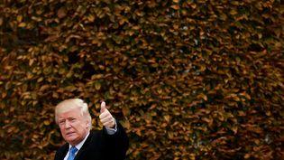 Donald Trump, le 20 novembre 2016, àBedminster Township (New Jersey). (DREW ANGERER / AFP)