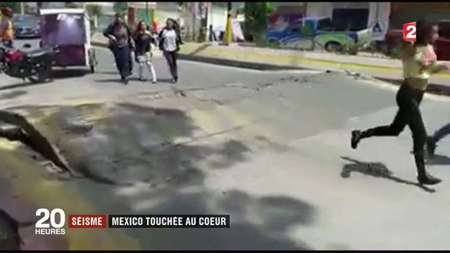 Séisme au Mexique : la capitale touchée en plein coeur