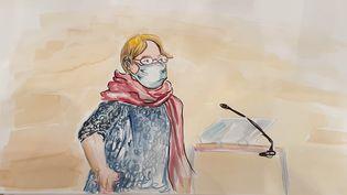 Denise Charbonnier,la mère du dessinateur Charb,le10 septembre 2020, lors de son audition au procès des attentats de janvier 2015. (ELISABETH DE POURQUERY / FRANCEINFO)