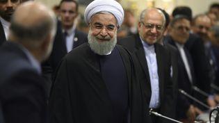 Le président iranien Hassan Rohani, le 27 janvier 2016 à Paris. (ERIC FEFERBERG / AFP)