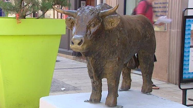 L'une des sculptures à découvrir dans les rues de Sarrebourg  (France 3 / Culturebox / capture d'écran)