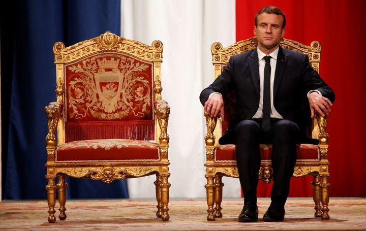 Emmanuel Macron après son investiture en 2017.  (Getty, photo: Charles Platiau)