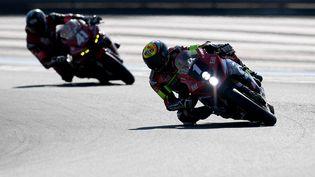 Xavier Simeon a mené Suzuki vers la victoire dans ce Bol d'Or. (NICOLAS TUCAT / AFP)