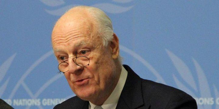 Staffan De Mistura le négociateur des Nations Unies pour la Syrie (à Genève, le 25 janvier 2016). (Fatih Erel / ANADOLU AGENCY)