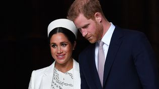 Meghan Markle et le prince Harry à Londres, le 6 mai 2019. (BEN STANSALL / AFP)