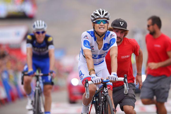 Kenny Elissonde, deuxième du classement du meilleur grimpeur de la Vuelta.