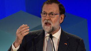 Le chef du gouvernement espagnol Mariano Rajoy, à Barcelone, le 19 décembre 2017. (JAVIER SORIANO / AFP)