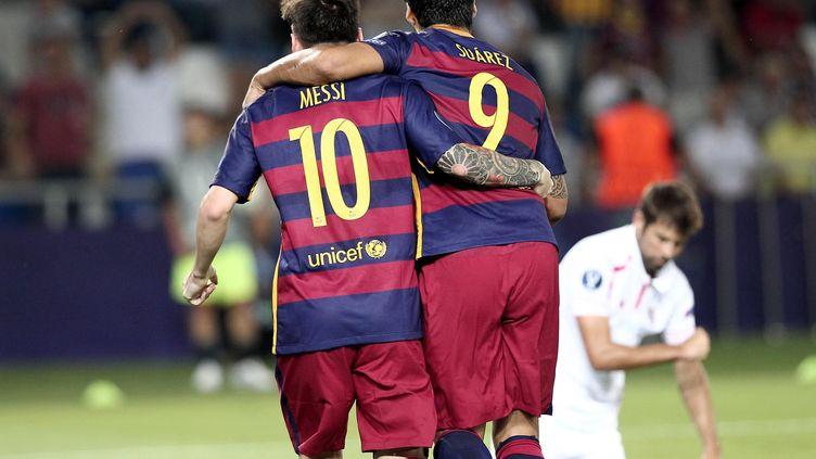 Lionel Messi et Luis Suarez sont tous deux nommés pour le titre de meilleur joueur UEFA de la saison (OKTAY CILESIZ / ANADOLU AGENCY)