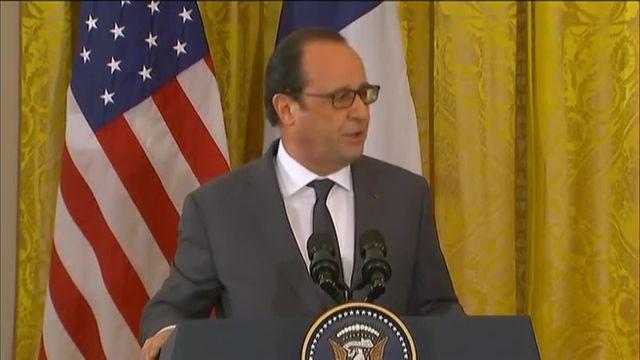 """""""Détruire Daech partout ou elle se trouve"""" lance Hollande après sa rencontre avec Obama"""