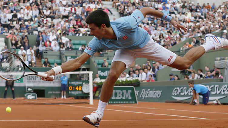 Novak Djokovic a perdu son premier set du tournoi (PATRICK KOVARIK / AFP)