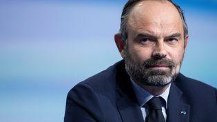 Le Premier ministre Edouard Philippe lors du Congrès de l'Association des maires de France, à Paris, le 21 novembre 2019. (THOMAS SAMSON / AFP)