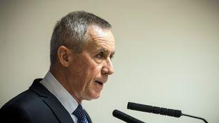 Le procureur de la République de Paris François Molins lors d'une conférence de presse à Paris, le 25 novembre 2016. (LIONEL BONAVENTURE / AFP)
