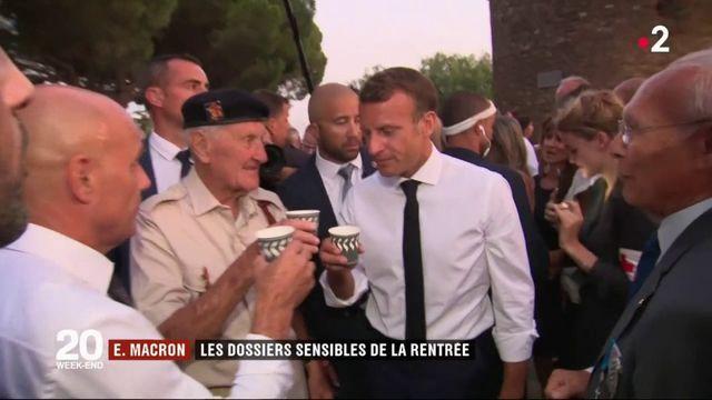 Rentrée politique : les dossiers sensibles d'Emmanuel Macron