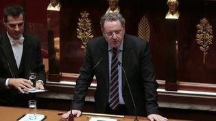 Richard Ferrand, alors député socialiste du Finistère, à l'Assemblée nationale, à Paris, le 26 janvier 2015. (JACQUES DEMARTHON / AFP)