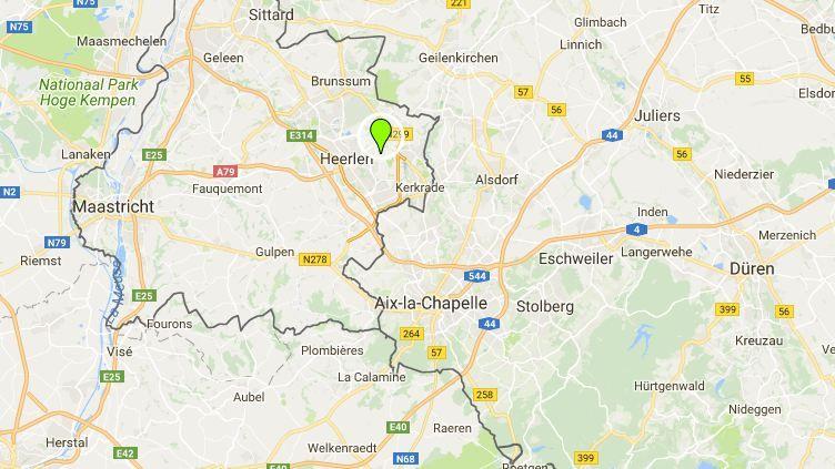 Une camionnette a renversé despiétons dans la nuit du 17 juinau 18 juin 2018, à proximité du festival Pinkpop, à Landgraaf,aux Pays-Bas. (GOOGLE MAPS)