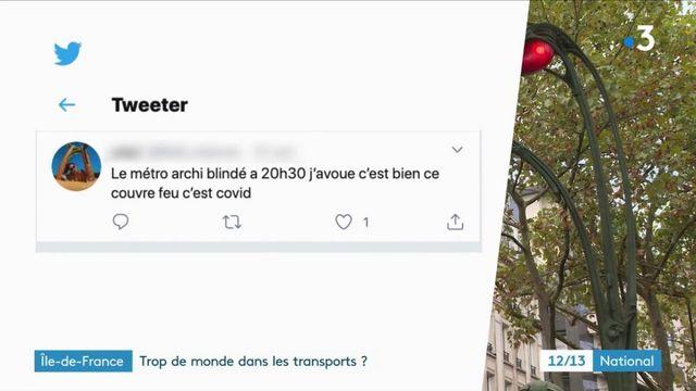 Couvre-feu : les transports encore plus bondés qu'à l'ordinaire en Île-de-France