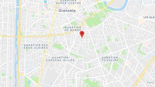 L'agression a eu lieu à la sortie du lycée Emmanuel Mounier à Grenoble. (CAPTURE D'ECRAN GOOGLE MAPS)