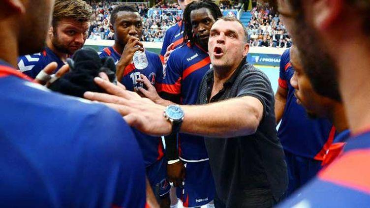 L'entraîneur du PSG Handball Philippe Gardent