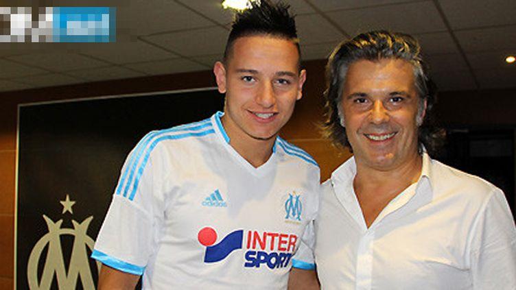 Florian Thauvin avec le maillot de l'OM