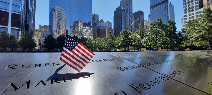 Ground Zero Memorial sur le site des Twin Towers à New York. (BENJAMIN ILLY / RADIO FRANCE)