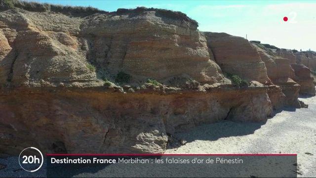 Morbihan : les falaises d'or de Pénestin scintillent sur la côte bretonne