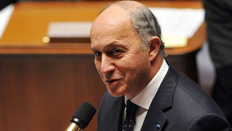 Le ministre des Affaires étrangères, Laurent Fabius, le 13 mars 2013, à l'Assemblée nationale. (PIERRE ANDRIEU / AFP)