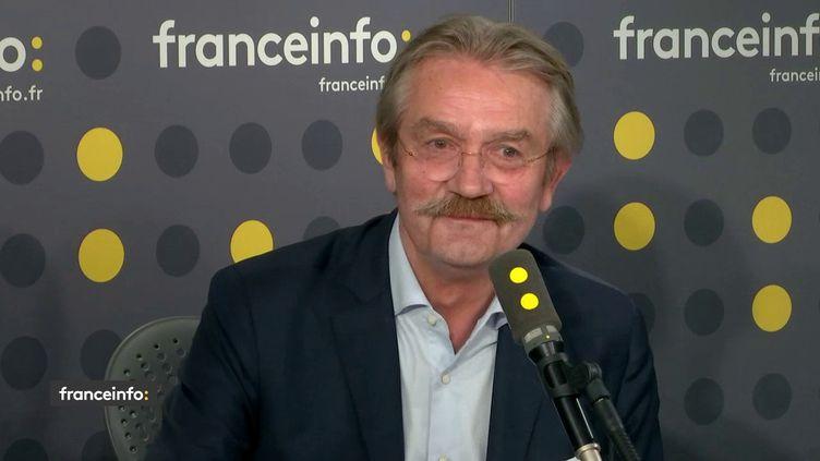 Frédéric Thiriez, chargé de la mission sur la réforme de l'ENA et de la haute fonction publique sur franceinfo lundi 3 juin. (FRANCEINFO)