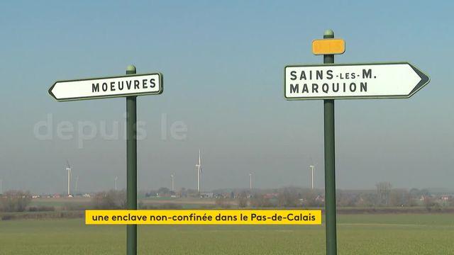 Villages nordistes enclavés dans le Pas-de-Calais non confinés