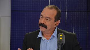 Philippe Martinez,secrétaire général de la CGT. (RADIO FRANCE / JEAN-CHRISTOPHE BOURDILLAT)