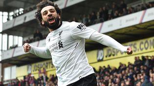 Mohamed Salah célèbre son but contre Crystal Palace, le 31 mars 2018.  (GLYN KIRK / AFP)
