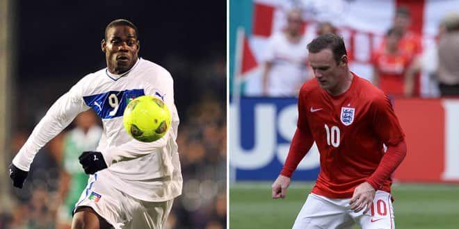 Mario Balotelli et Wayne Rooney