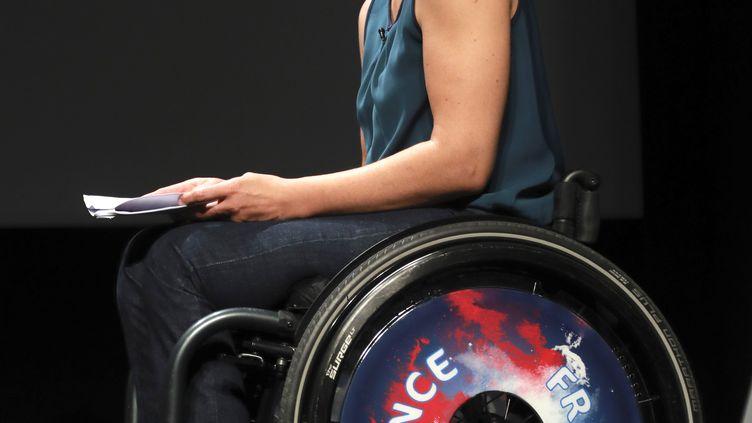 Emmanuelle Assmann, présidente du Comité paralympique et sportif français (CPSF) (JACQUES DEMARTHON / AFP)