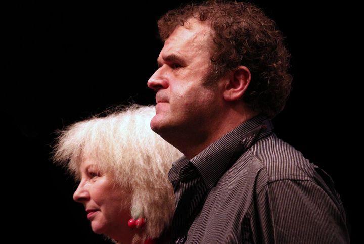 Yolande Moreau et Pippo Delbono après la projection cannoise  (Jean-François Lixon)