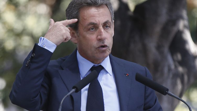 Le président des Républicains, Nicolas Sarkozy, le 26 avril 2016, à Nice (Alpes-Maritimes). (VALERY HACHE / AFP)