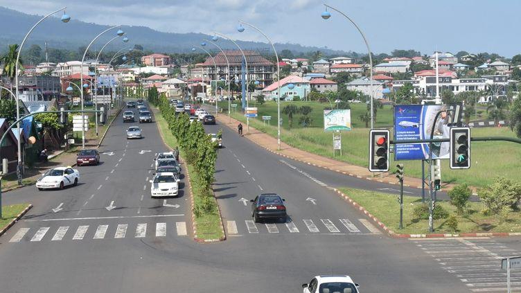 Vue générale d'une rue de Malabo, en Guinée équatoriale, le 5 juin 2020. (SAMUEL OBIANG / AFP)