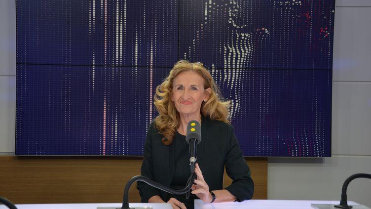 Nicole Belloubet, ministre de la Justice. (JEAN-CHRISTOPHE BOURDILLAT / RADIO FRANCE)