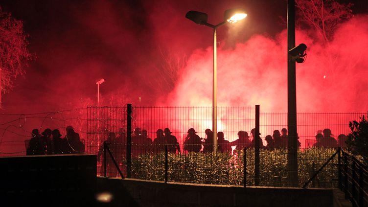 Les  manifestations des supporteurs bastiais avaient été houleuses (PASCAL POCHARD-CASABIANCA / AFP)