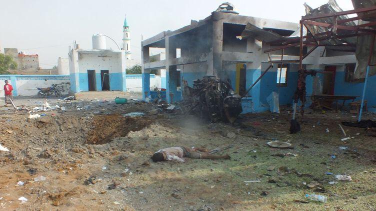 (Un hôpital d'Abs dans la province d'Hajja détruit lundi par une frappe saoudienne © REUTERS)