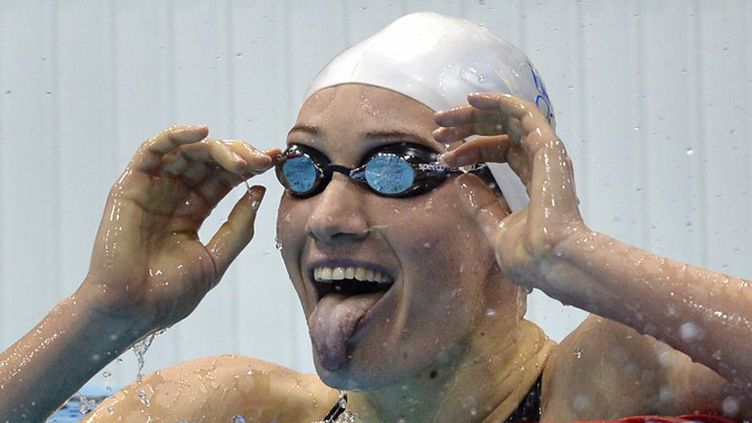 La joie de Camille Muffat  (FABRICE COFFRINI / AFP)