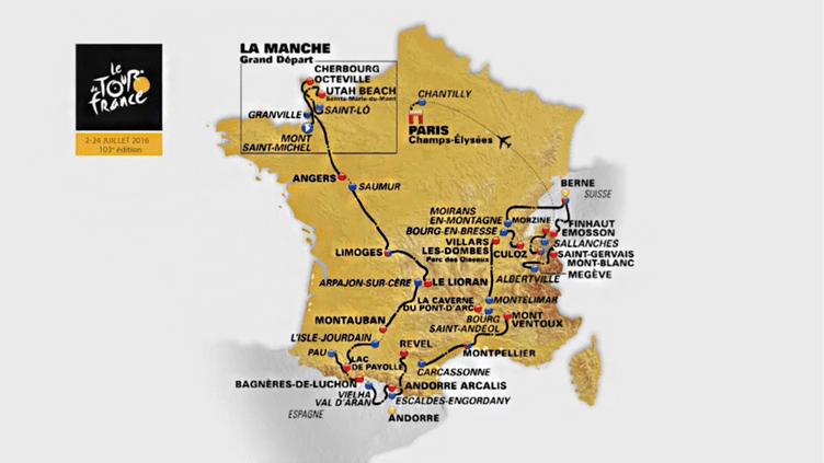 Le parcours du Tour de France 2016. (ASO / TOUR DE FRANCE)