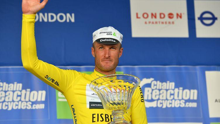Stephen Cummings, vainqueur du Tour de Grande-Bretagne. (GLYN KIRK / AFP)