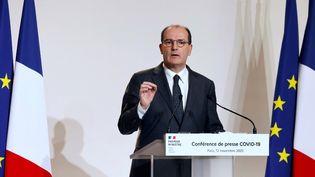 Le Premier ministre, Jean Castex, lors d'une conférence de presse à Matignon, le 12 novembre 2020. (LUDOVIC MARIN / AFP)